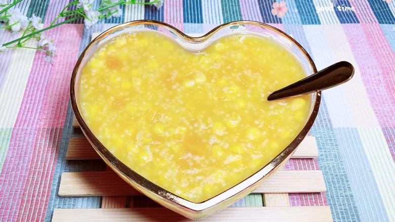 玉米南瓜粥,香甜可口,百吃不厌。