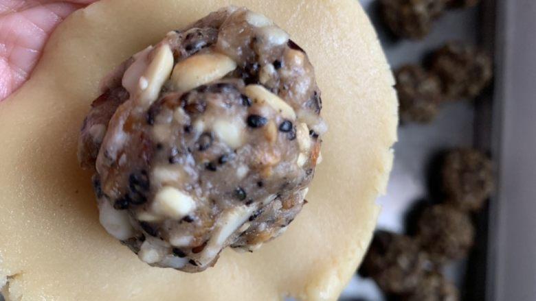 花生月饼,面团60g一个