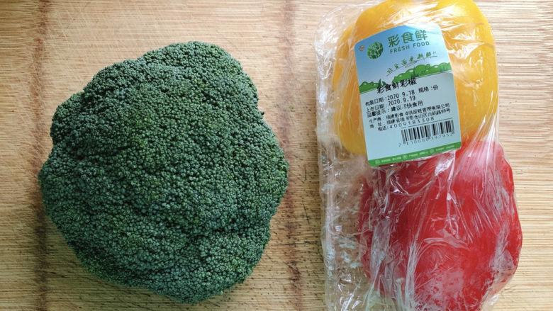 干锅西兰花,食材如图,所示示意。