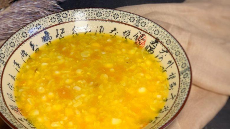 玉米南瓜粥,成品