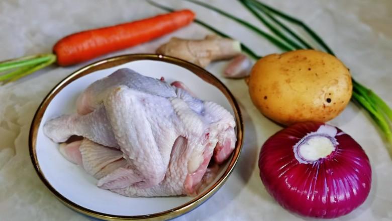 新疆大盘鸡,准备食材。