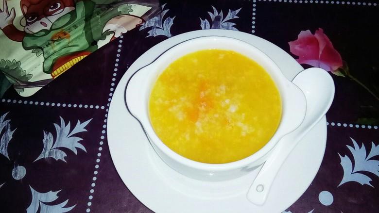 红薯南瓜粥,香浓的红薯南瓜粥。