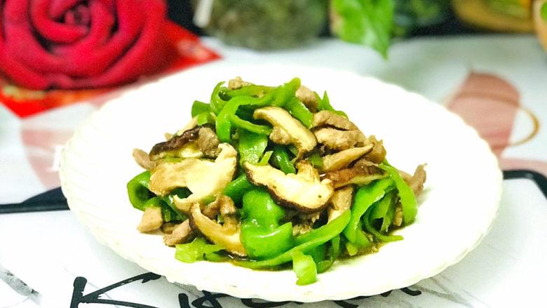 香菇肉片,一盘特别下饭的香菇炒肉片就做好了