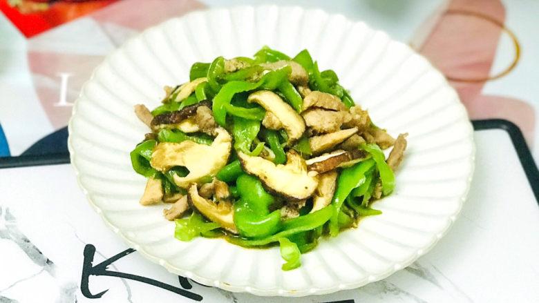香菇肉片,成品图