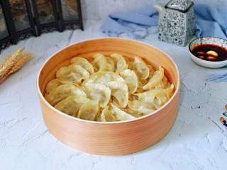 三鲜蒸饺,皮特别好吃,全家从此爱上了蒸饺。