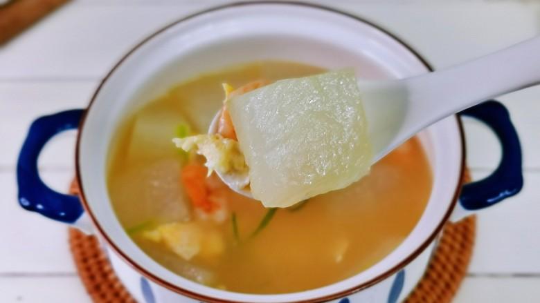 冬瓜鸡蛋汤,我要开动喽,鲜美无比,喜欢的做起来。