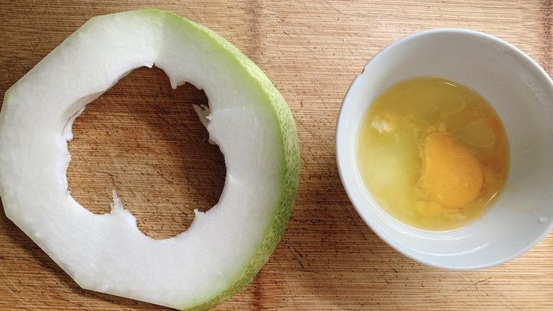 冬瓜鸡蛋汤,食材如图,所示示意。