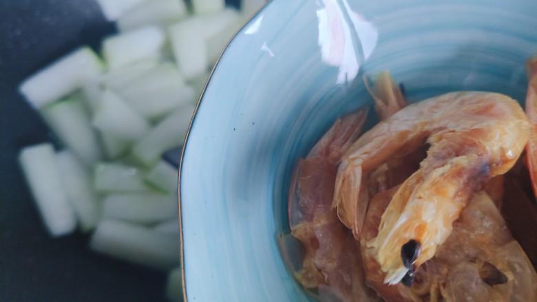 冬瓜鸡蛋汤,加入虾干