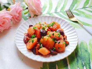 红烧土豆,成品图