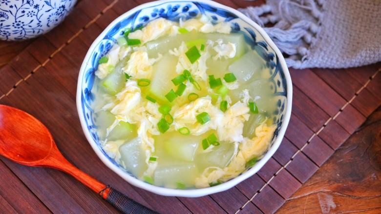 冬瓜鸡蛋汤,成品图二