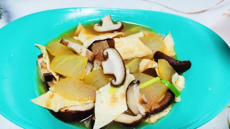 冬瓜鸡蛋汤,冬瓜鸡蛋汤成品图