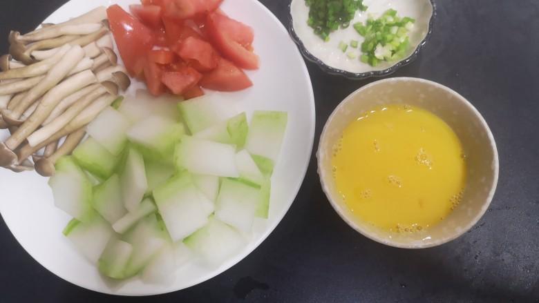 冬瓜鸡蛋汤,弄好的半成品