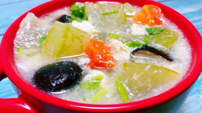 冬瓜鸡蛋汤,这道美味营养丰富还可以减脂的靓汤好喜欢
