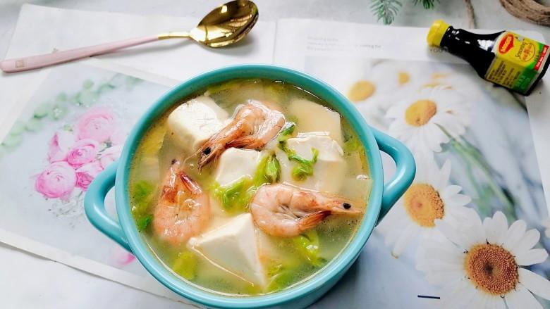 白菜豆腐汤,拍上成品图,一道美味又营养的白菜豆腐汤就完成了。