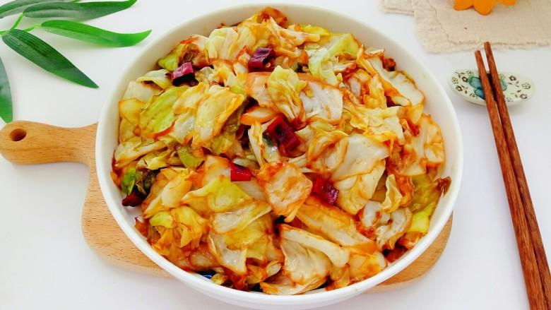 干锅包菜,成品图