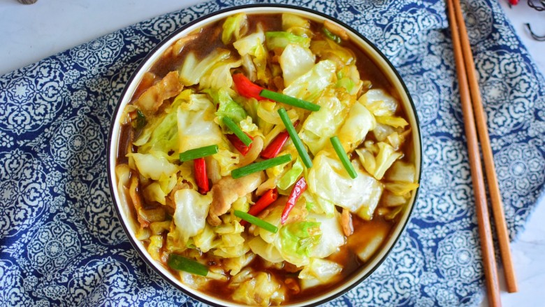干锅包菜,成品图五