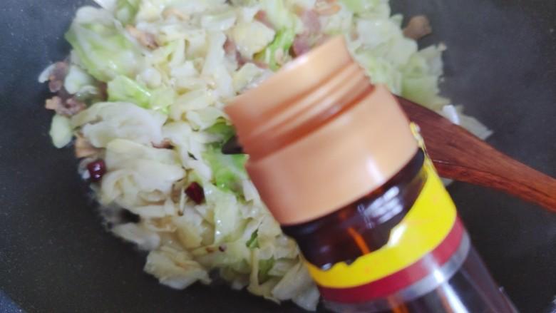 干锅包菜,加适量美极鲜