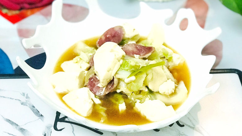 白菜豆腐汤,清爽宜人
