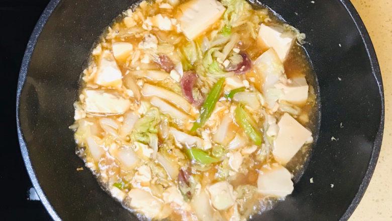 白菜豆腐汤,一道美味的大白菜豆腐汤就做好了