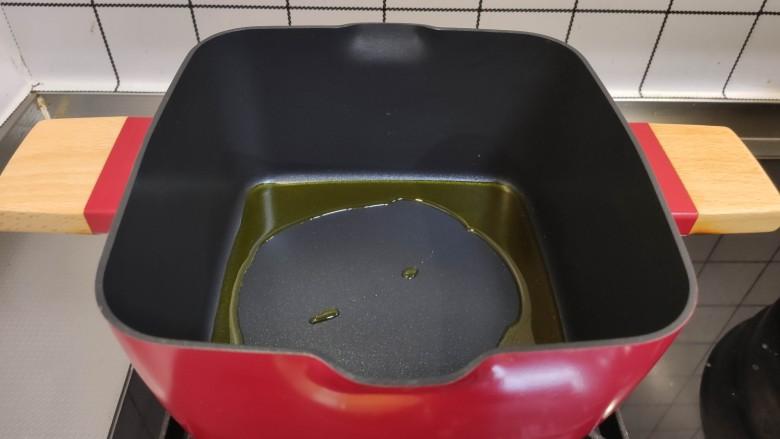 白菜豆腐汤,加入食用油。