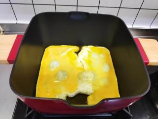 白菜豆腐汤,加入鸡蛋。
