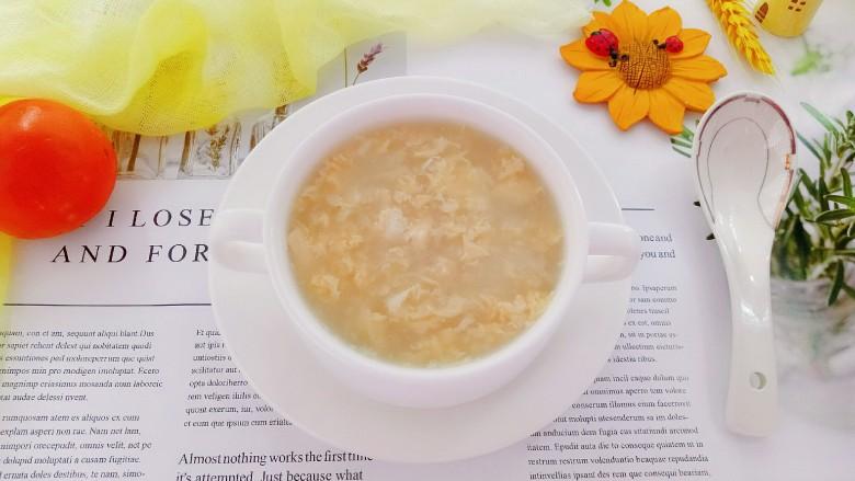 鸡蛋小米粥,出锅了