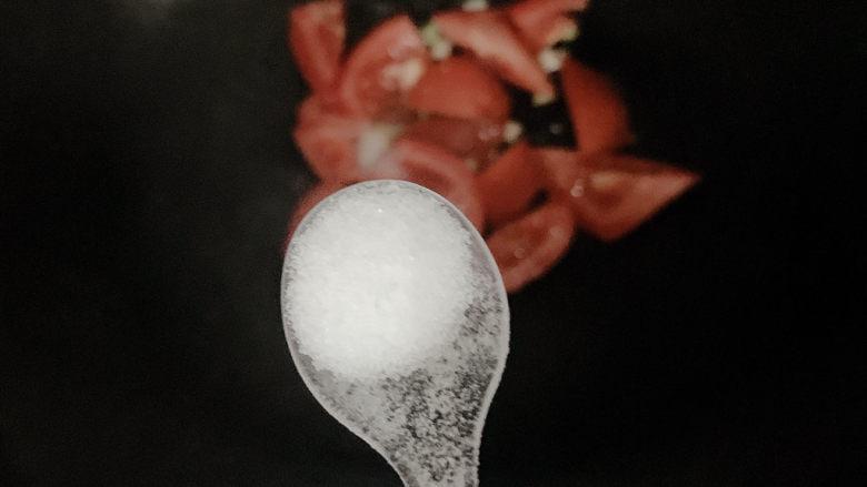 西红柿面疙瘩,加小半勺盐调味
