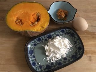 蛋黃南瓜,準備食材