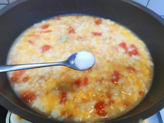 西紅柿面疙瘩,加入鹽和生抽