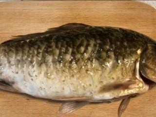 紅燒魚,準備一條鯽魚開膛破肚洗干凈,記得魚肚子里面一定要洗干凈哦,不然魚會比較腥哦
