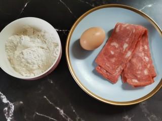 培根雞蛋餅,準備食材