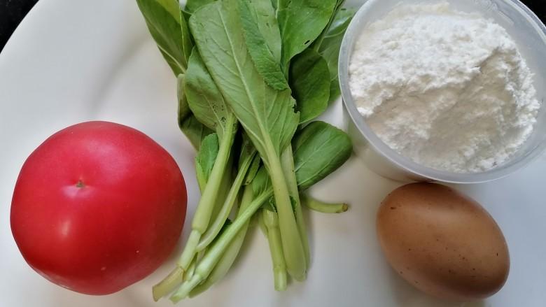 西红柿面疙瘩,准备好所需材料