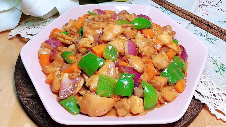爆炒鸡胸肉,配上一碗米饭,好吃到停不下来哟!