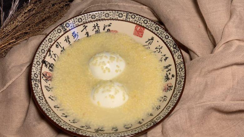 鸡蛋小米粥,分享