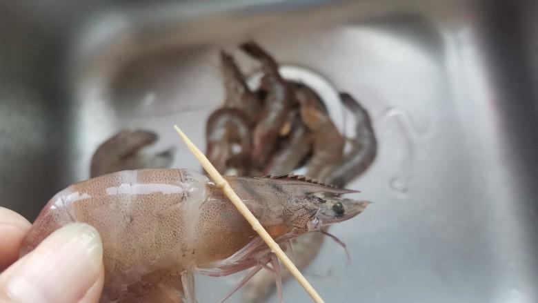 自制虾滑,鲜虾去虾线,去壳