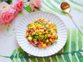 青椒炒玉米