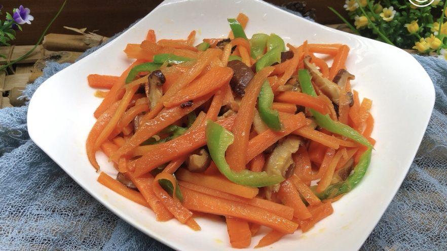 青椒炒胡萝卜