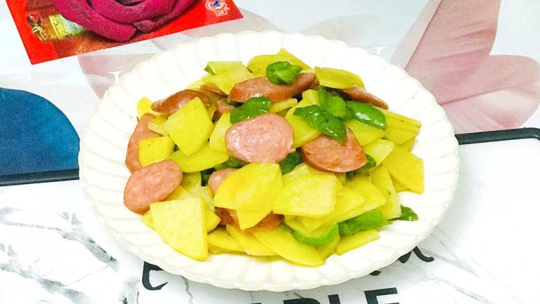 尖椒土豆片,成品图
