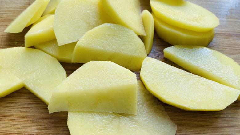 尖椒土豆片,切片