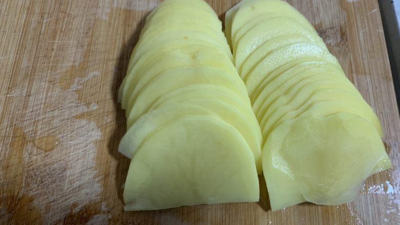 尖椒土豆片,切成片
