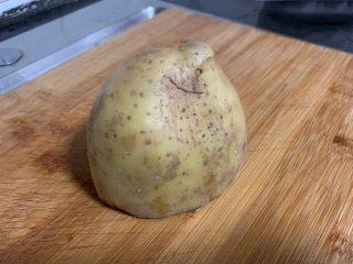 尖椒土豆片,土豆太大個了,這里用了半個