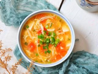 番茄豆腐湯,成品圖二
