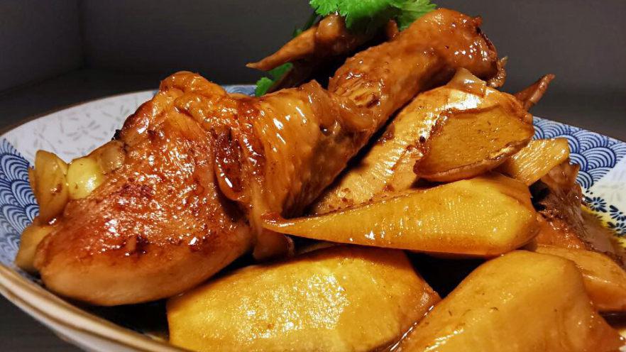 黄焖冬笋鸡