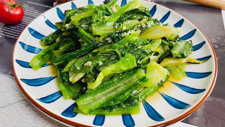 蒜蓉油麦菜,蒜蓉油麦菜清香可口,低热量、高营养!