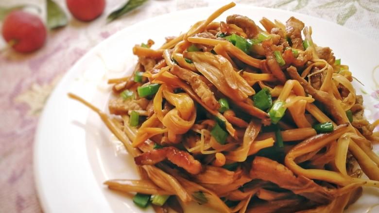 黃花菜炒肉絲