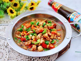 蠔油雙椒雞丁,啦啦啦,鮮美可口的蠔油雙椒雞丁就出鍋咯。