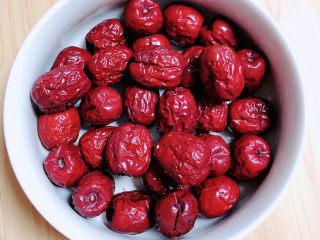 奶棗,準備好紅棗,要軟一些的。