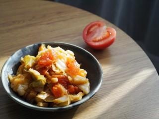 红配绿,大头菜炒西红柿