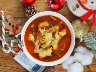 超简单的圣诞水煮鱼
