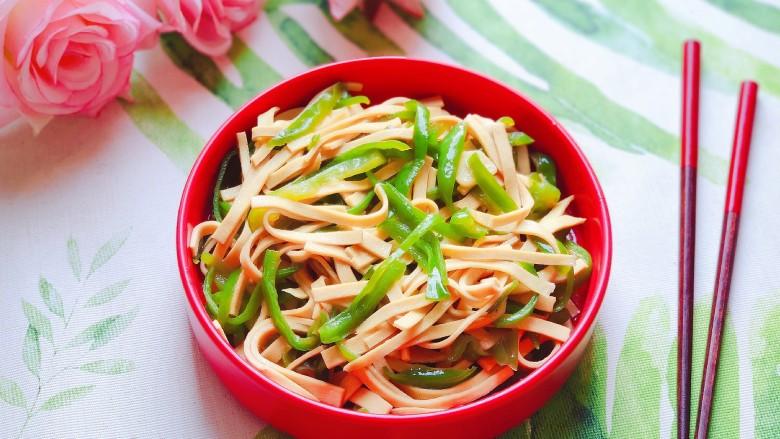 青椒炒千张~清爽好吃有营养,成品图